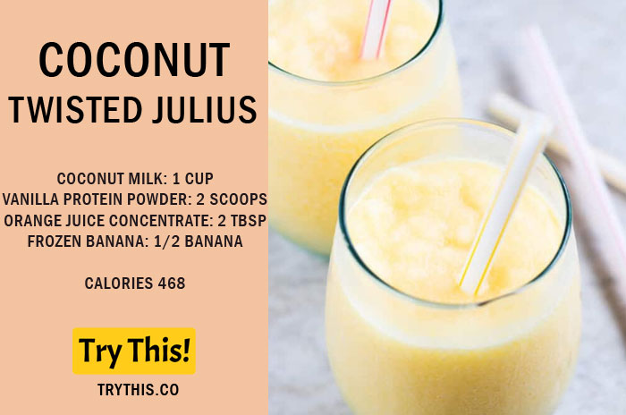 Coconut Twisted Julius Recipe