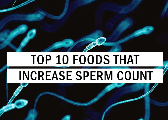 Certain foods increase sperm production