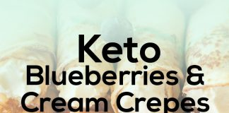 Keto Blueberries and Cream Crepes
