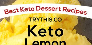 Keto Lemon Ice Cream