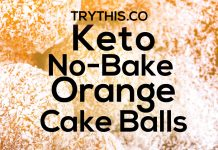 Keto No-Bake Orange Cake Balls
