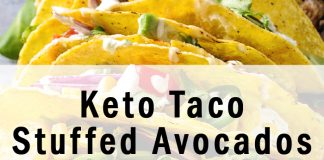 Keto Taco Stuffed Avocados